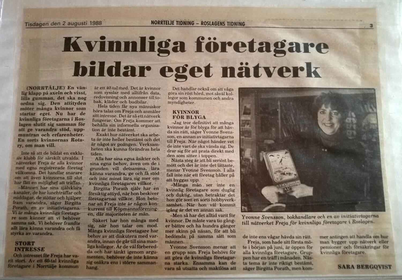 Artikel i NT om att Freija startar