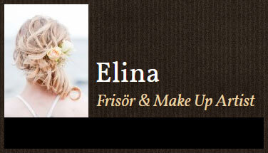 Elina, frisör & make up artist