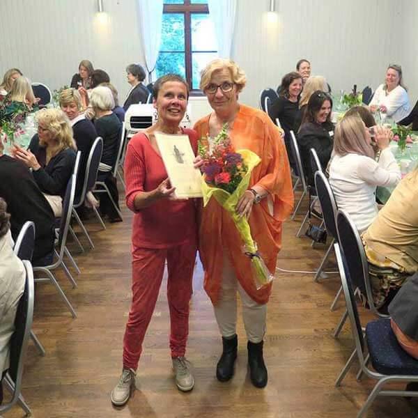 Årets Freija 2017 Anki Belsander tillsammans med ordförande Lena Norrman