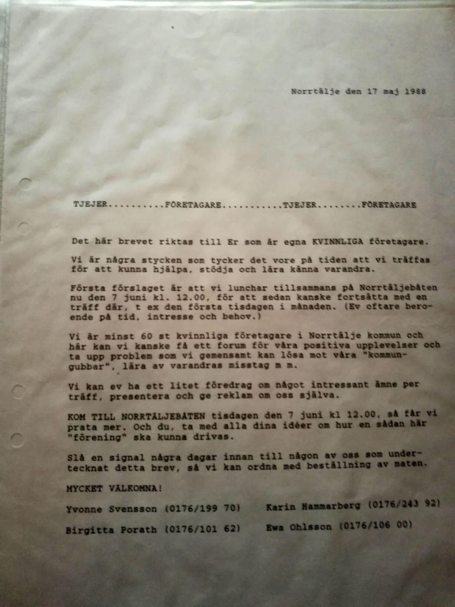 Första brevet