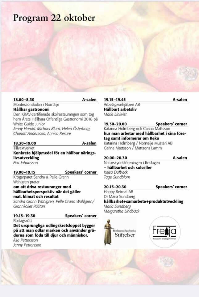 Program 22 oktober 2019