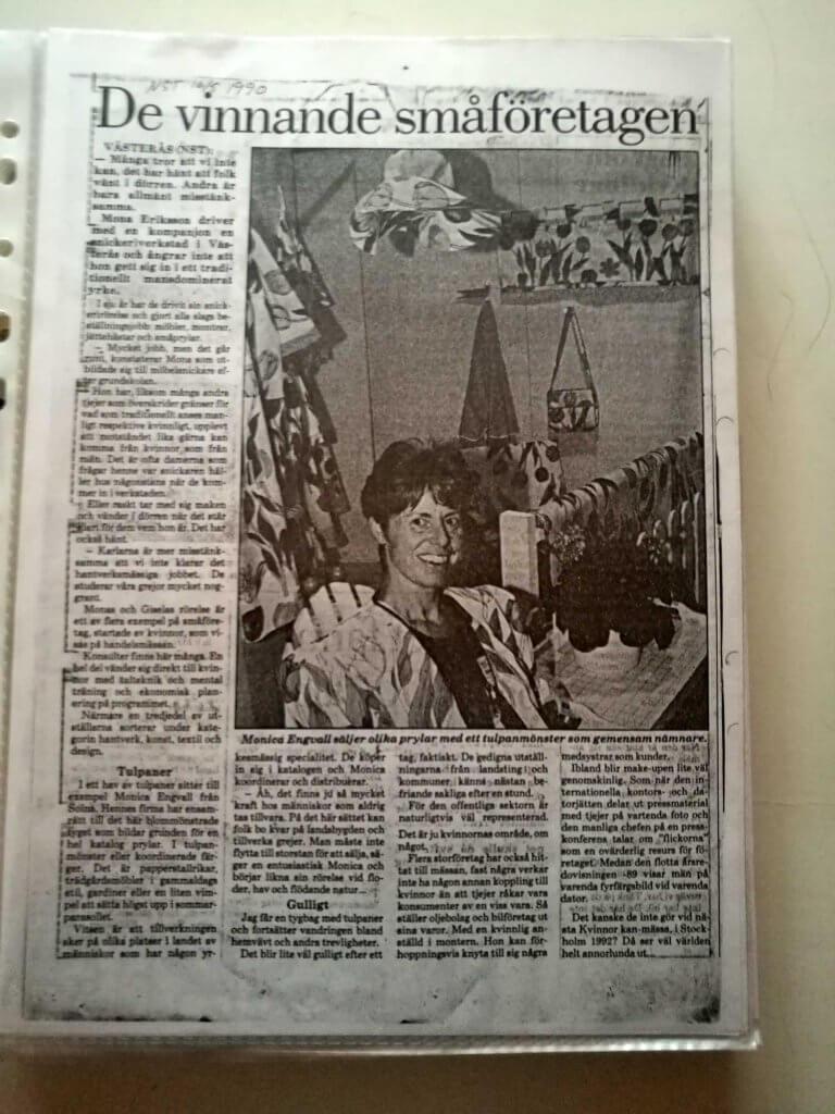 artikel om vinnande småföretag 1990