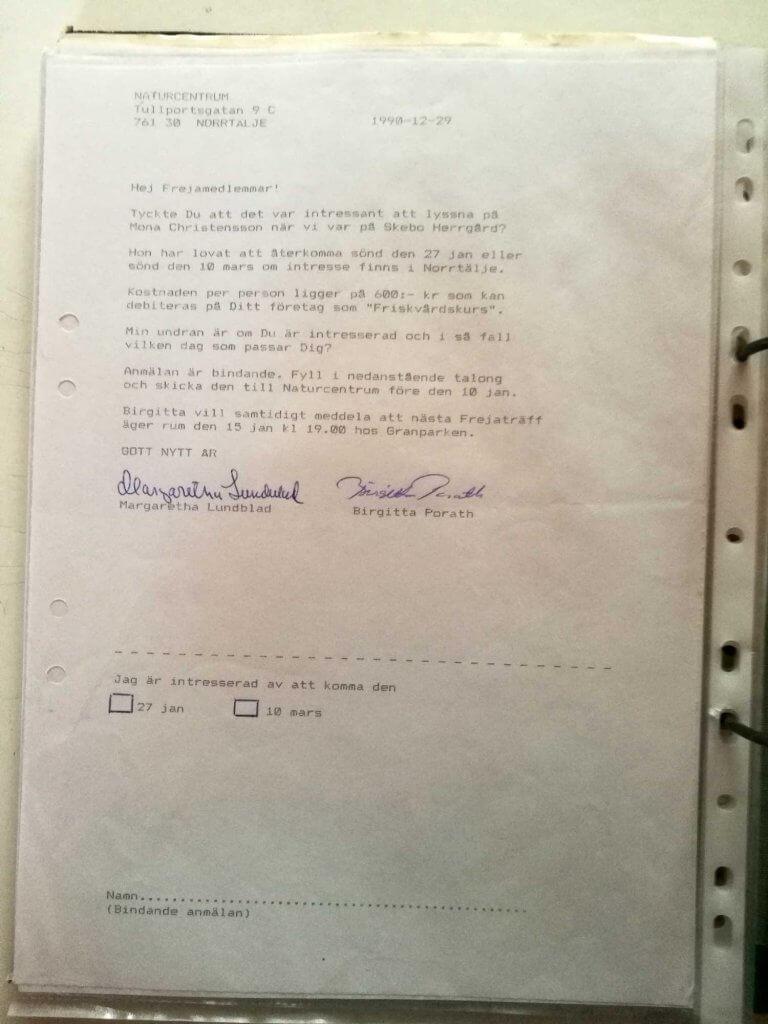Erbjudande från Naturcentrum 1990