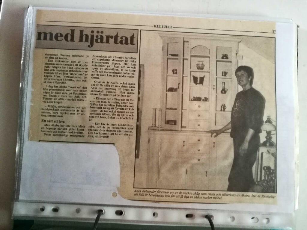 Artikel om Anki Belsander 1990