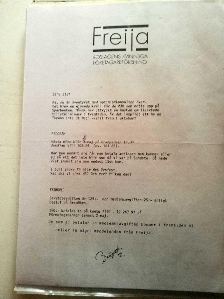 Medlemsbrev april 1990