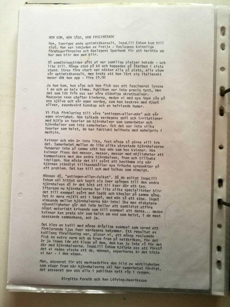 Medlemsbrev mars 1990