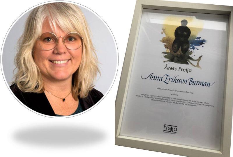 Årets Freija 2021, Anna Eriksson Burman